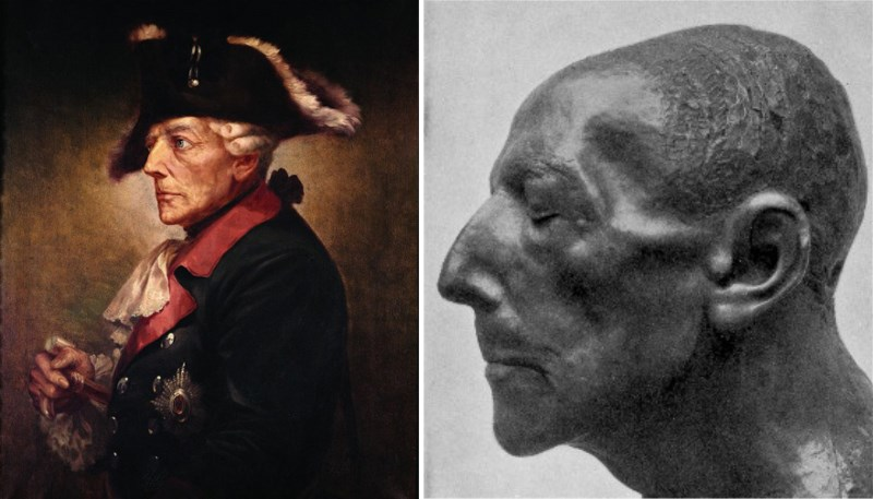 frederick the great prussia death mask