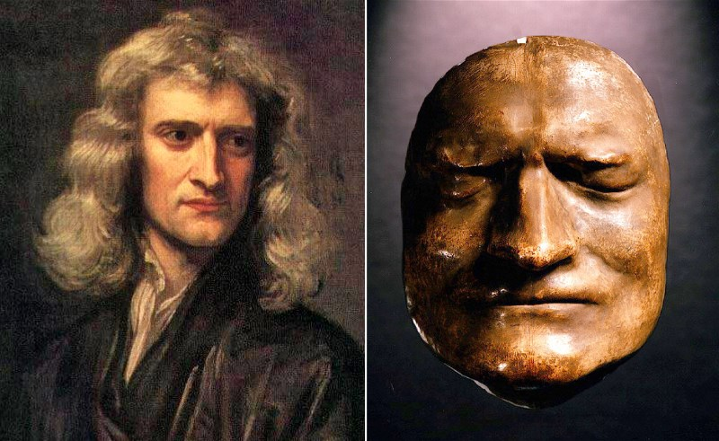 isaac newton death masks