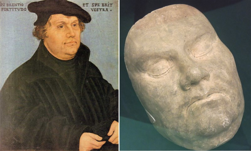 martin luther death mask protestant reformation