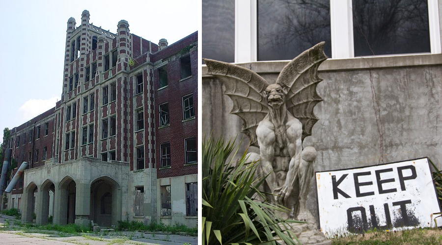 exterior waverly hills sanatorium gargoyle haunted ghost
