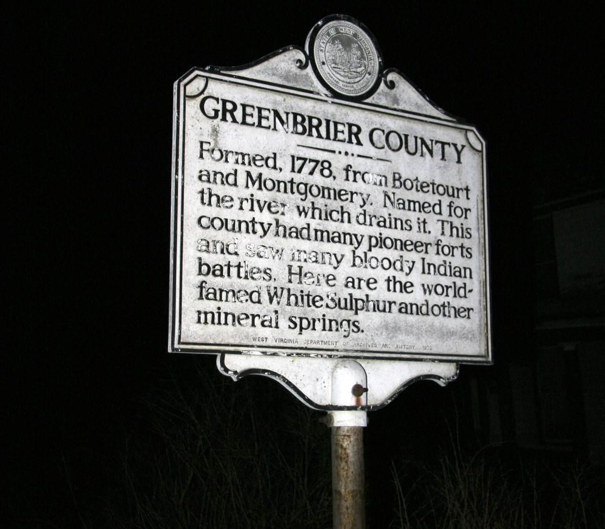 Greenbrier County sign west virginia ghost