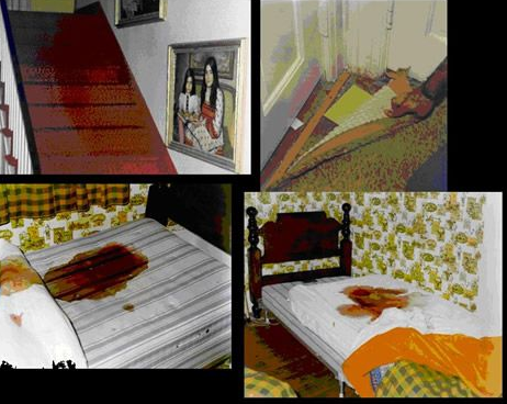 amityville house crime scene interior